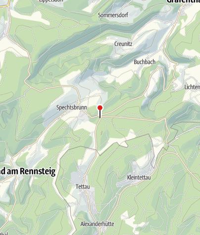 """Map / Naturparkinformationszentrum """"Kalte Küche"""" - Spechtsbrunn"""