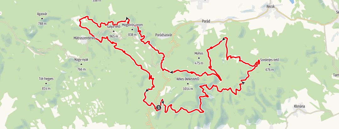Map / Mátra kerékpáros körtúra
