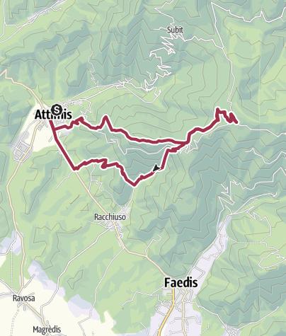 Map / Passeggiata castelli Attimis Porzus