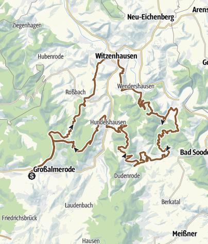 Karte / Reiterhof Hirschberg: Rundtour mit dem MTB