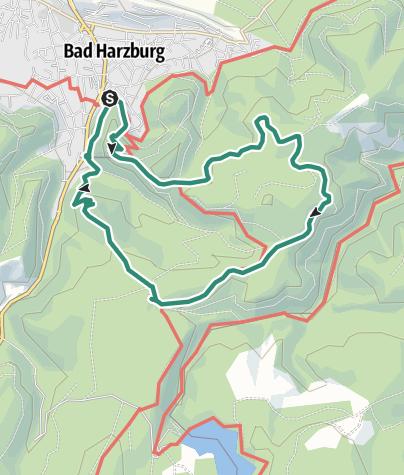 Karte / HWN 121,122,169 Bad Harzburg