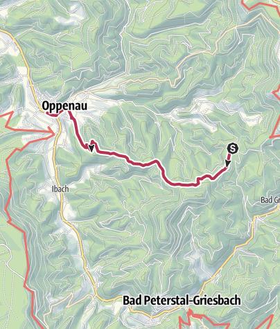 Karte / Tour1.1 - Braunbergtour nach Oppenau