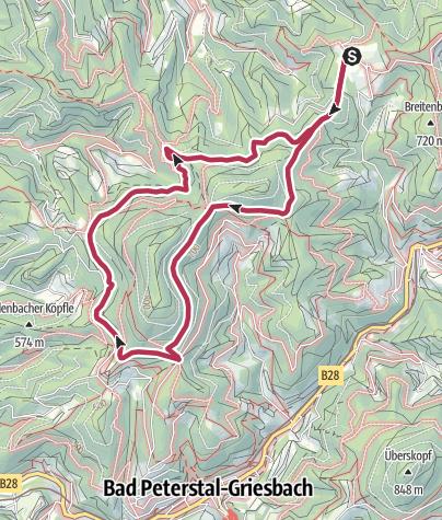 Karte / Tour4 - Rund um den Braunberg