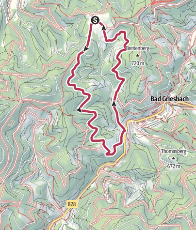 Karte / Tour6 - Griesbacher Breitenbergtour