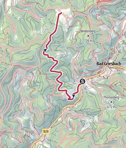 Map / Tour1.2 - Bad Griesbach zum Breitenberg