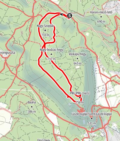 Map / Pilisszentkereszt - Boldog Özséb kilátó