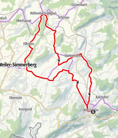 Karte / Rundtour zum Tobelrandweg