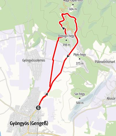 Map / Gyöngyös - Sástó -Gyöngyös (15 km)