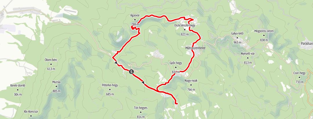 Map / Károlytáró, Mátraszentimre, Mátraszentistván, Ágasvár, Mátrakeresztes, Károlytáró