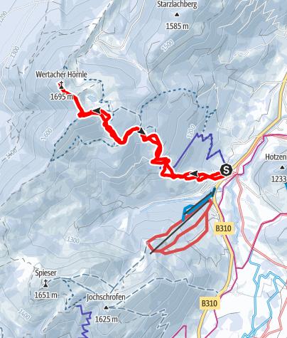 Karte / Wertacher Hörnle 1.695m
