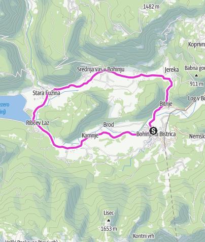 Map / Bohinjska Bistrica