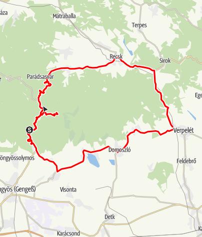 Map / Tour de Gyöngyös 75 km