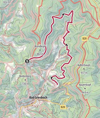 Map / Renchtalhütte zum Dollenberg langer Weg