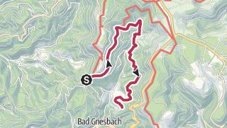 Karte / Renchtalhütte zum Dollenberg langer Weg