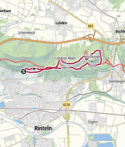 Karte / Klippenturm-Runde mit Hirschkuppe