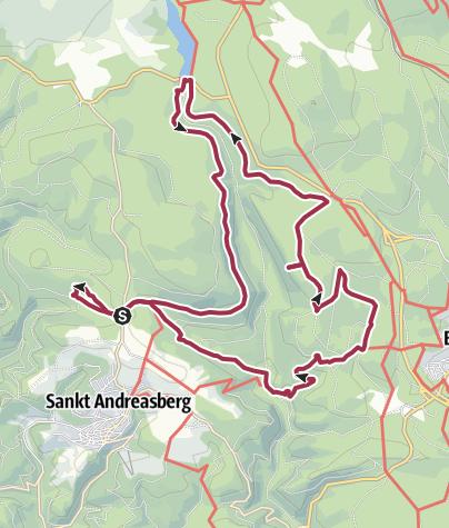 Karte / Sankt Andreas Berg: Rundtour inkl. HWN