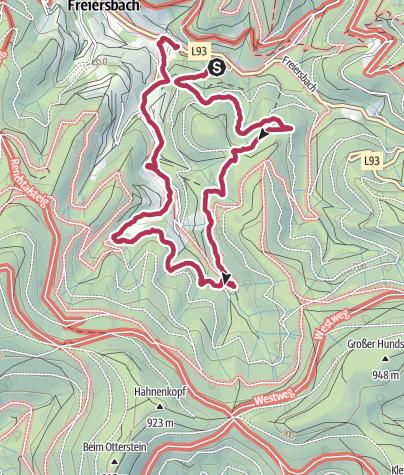 Karte / Wanderung 01.03.2021 14:39