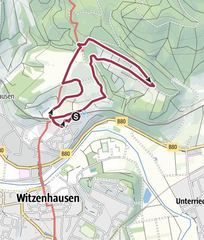 Karte / Wildkirschenweg Witzenhausen