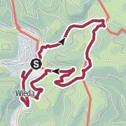 Karte / Wandern im Harz - Von Wieda zur Helenenruh (HWN 160, 162, 163)