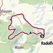 Karte / Durchs romantische Weißwassertal hinauf zum Hünstollen mit Harzblick