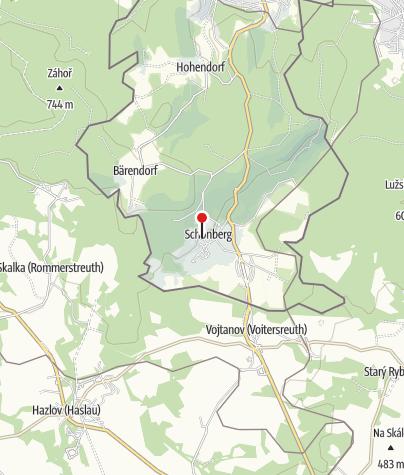 Karte / Ferienwohnung Schloss Schönberg