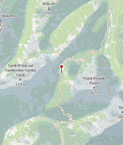 Zemljevid / Tičarjev dom na Vršiču