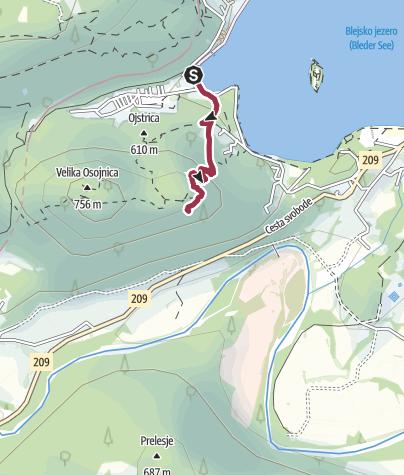 Karte / Aussichtspunkt Bled See