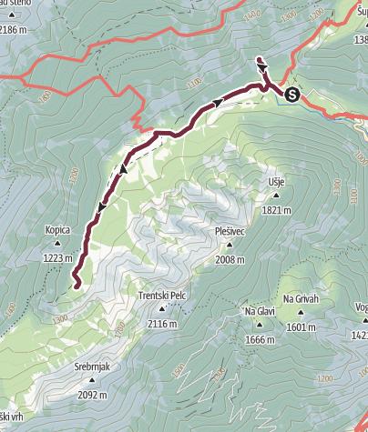Map / Zur Soca Quelle und dem Wasserefall Zapotok