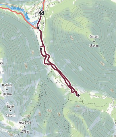 Map / Von den Großen Soca Trögen zum magischen Šunik-Wasserhain [Šunikov vodni gaj]