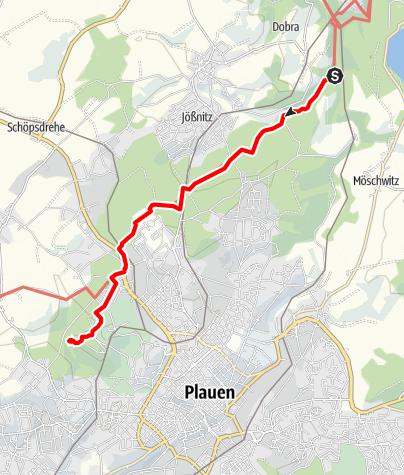 Karte / Gebietswanderweg Syratal-Elstertal
