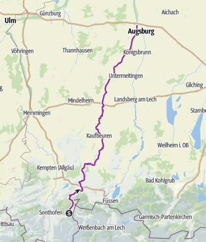 Map / Wertach-Radweg