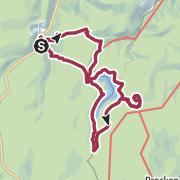Karte / Tolle Harzwege mit Brockenblick Radauwasserfall-Molkenhaus-Eckerstausee-Scharfensteinklippe