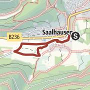 Map / TalVITAL-Rundweg - auf KurterrainWegen im staatl. anerkannten Luftkurort Saalhausen