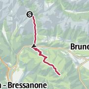 Map / Via Venezia Scharnitz - Venedig 10. Etappe: Pfunders - Vintl - Kreuzwiesenhütte