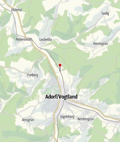 Karte / Hist. Bahnbetriebswerk Adorf