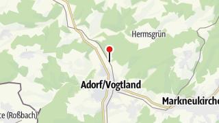 Mapa / Hist. Bahnbetriebswerk Adorf