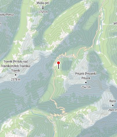 Map / Poštarski dom na Vršiču