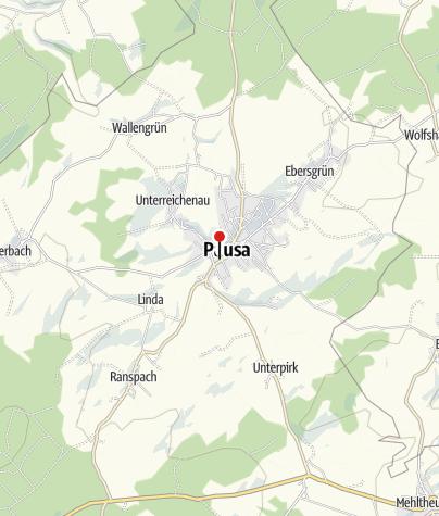 """Map / Gaststätte """"Grünes Tal"""" Pausa"""