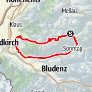 Karte / Damüls | 2-Pässe Rundtour