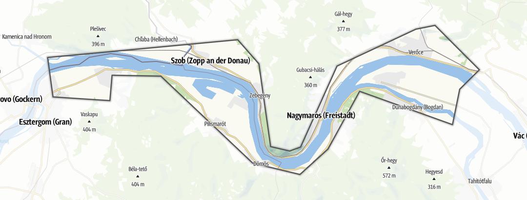 Map / Canoe trails in Visegrádi-Dunakanyar