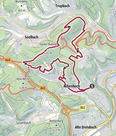 Map / Historical Achenbach circular route