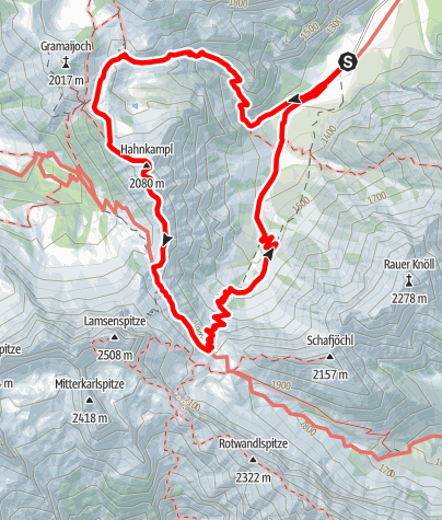 Kaart / Verwöhnhotel Kristall-Gramaialm-Hahnkampl-Gramaialm