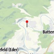 Karte / Alter Eisenbahn-Tunnel zwischen Reddighausen und Dodenau