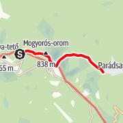 Map / Galyatető - Parádsasvár