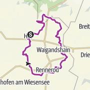 Map / Fuchskaute-Tour (V): Anspruchsvolle Tour von Hof über Rennerod, Fuchskaute und Stegskopf