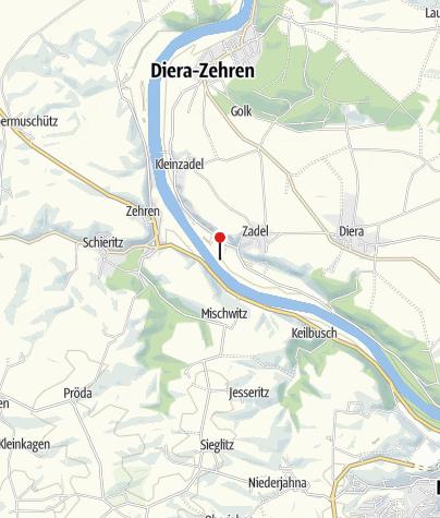 """Karte / Caravanstellplatz """"Zum Zuessenhaus"""" Diera-Zehren"""