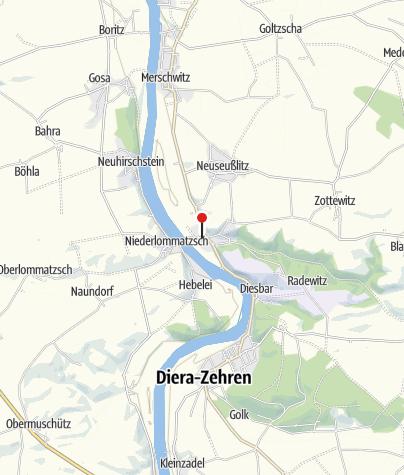 Karte / Caravanstellplatz auf dem Parkplatz am Schloss Seußlitz