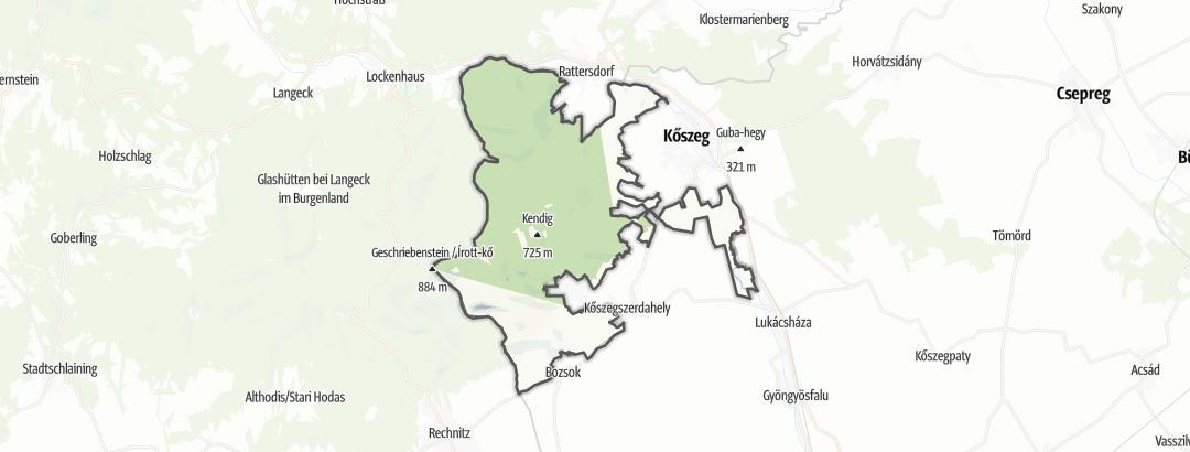 Map / Koszegi Tájvédelmi Körzet