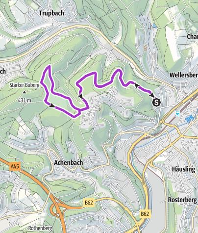 Map / Von Siegen zum Fischbacherberg
