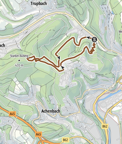 Map / Mountainbike Trail Siegen